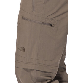 The North Face Exploration Convertible Pants long Men, weimaraner brown